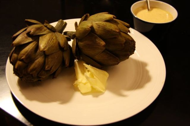 Artichokes and salted butter - my favourite combination